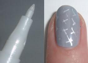 Essence Nail Art Pen - 06: Silver White
