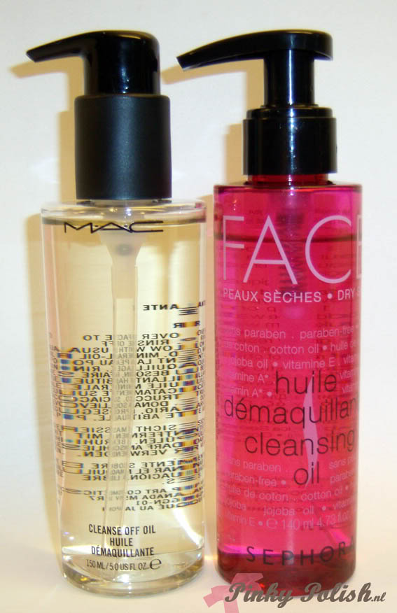 MAC Cleanse Off Oil vs. Sephora Cleansing Oil