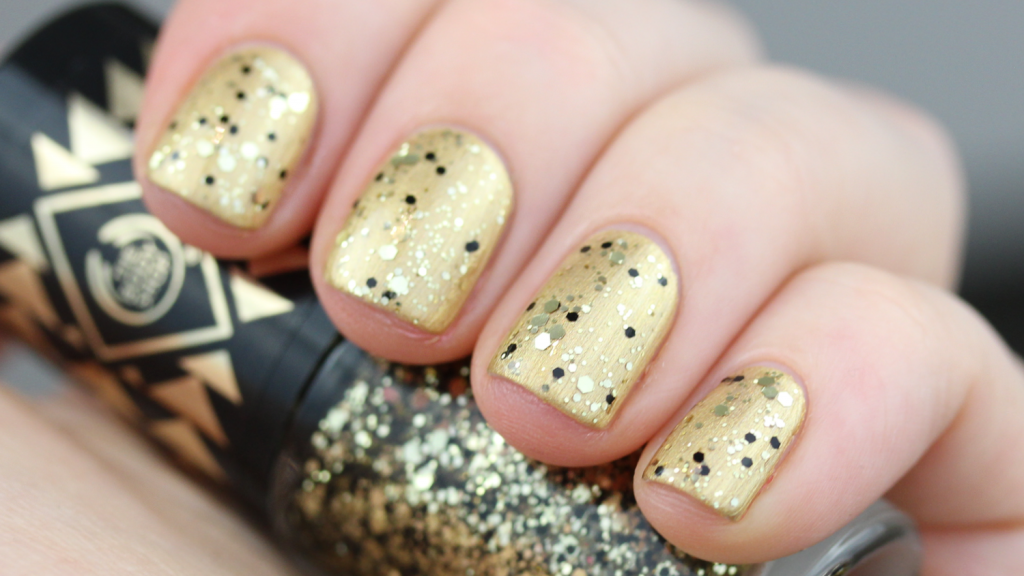 The Body Shop Nail Sequins Gold