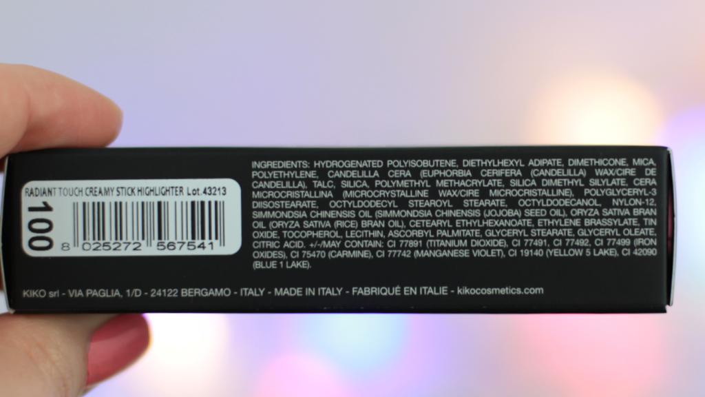 Kiko Radiant Touch Creamy Stick Highlighter - 5 van 7